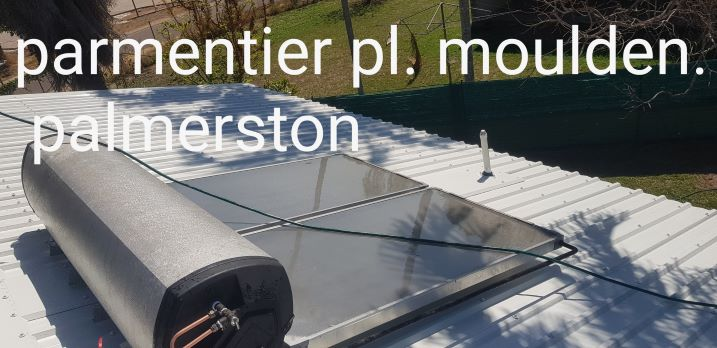 Solar hot water roof installation in Palmerston NTure